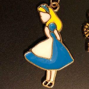 Jewelry - Alice in wonderland necklace lock key jewelry